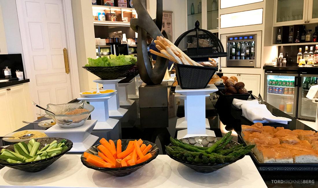 Ritz-Carlton Doha Club Lounge lunch