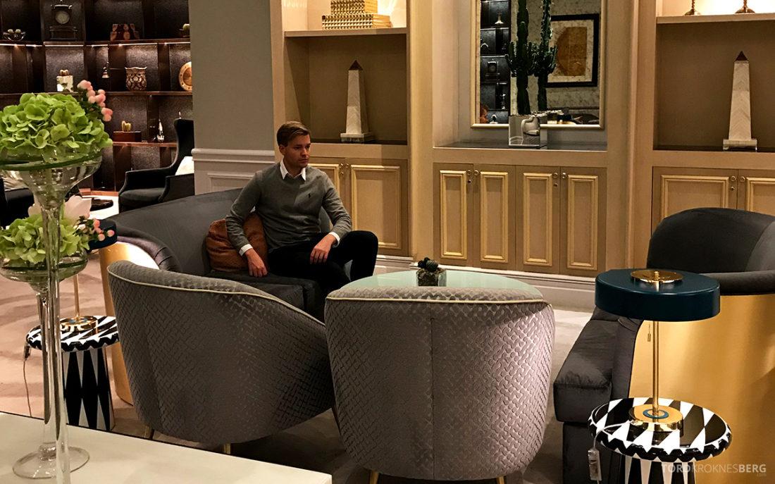 Ritz-Carlton Doha Club Lounge Tord Kroknes Berg sofa