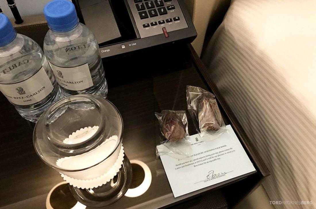 Ritz-Carlton Doha Hotel turndown service