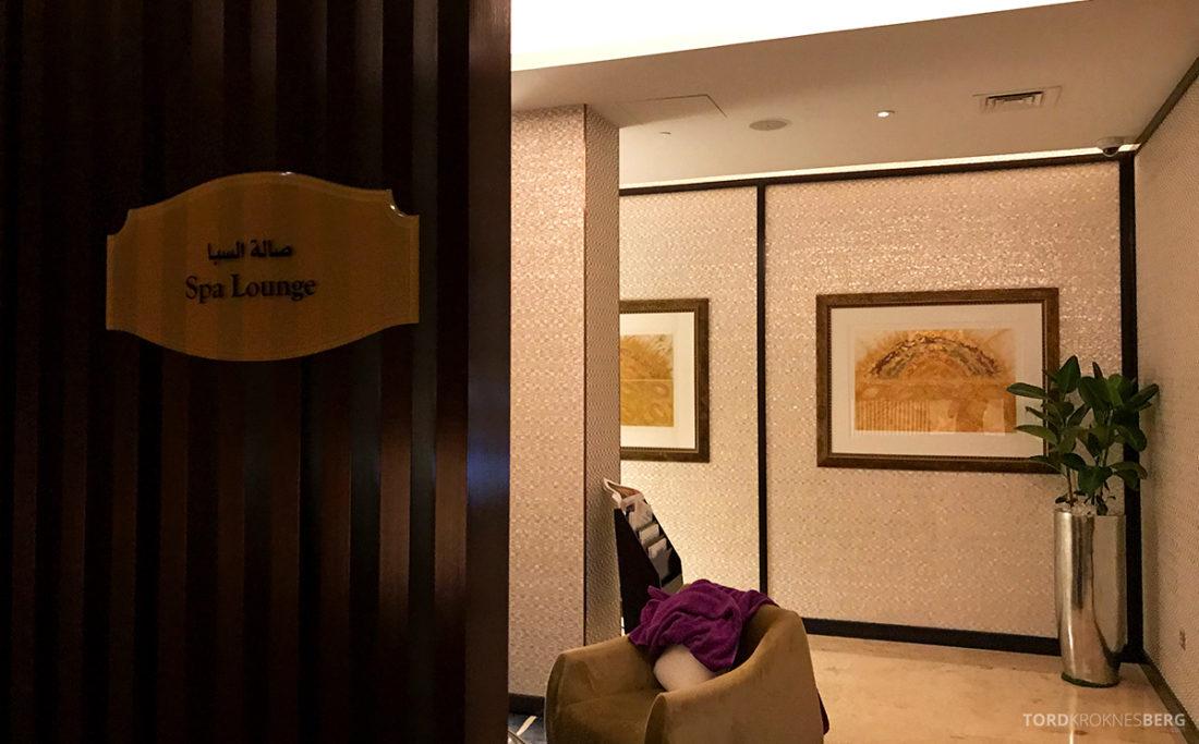 Ritz-Carlton Doha Hotel spa lounge
