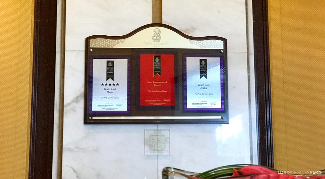 Ritz-Carlton Doha Hotel utmerkelser