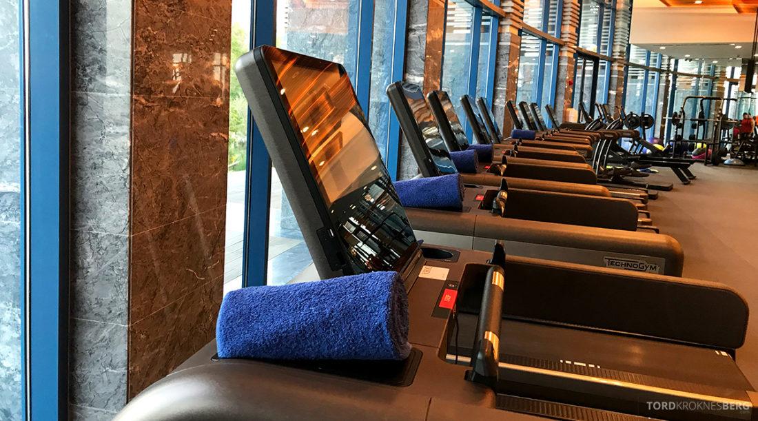 Ritz-Carlton Doha Hotel gym tredemølle