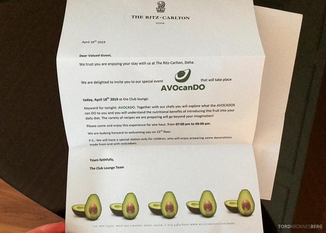 Ritz-Carlton Doha Hotel avocadosmaking