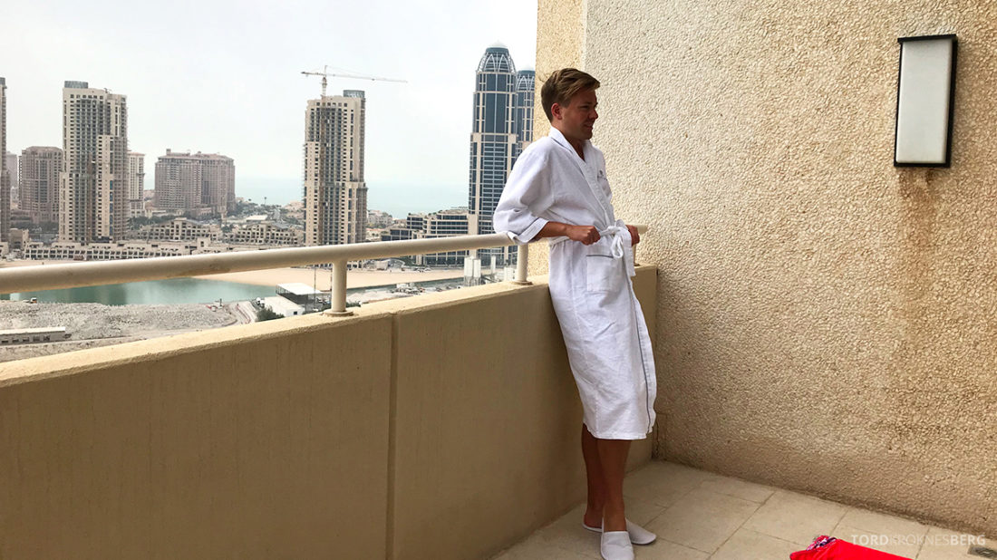 Ritz-Carlton Doha Hotel balkong utsikt Tord Kroknes Berg