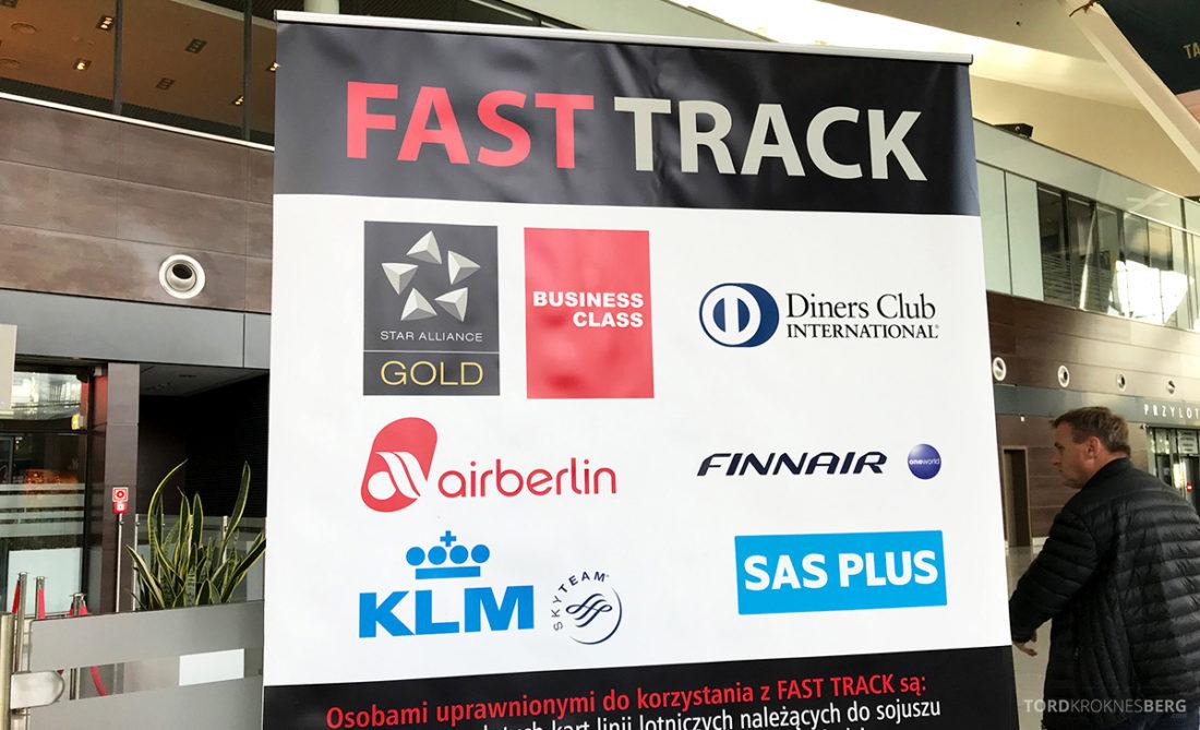 SAS Go Gdansk Oslo fast track adgang