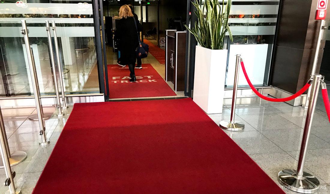 SAS Go Gdansk Oslo rød løper
