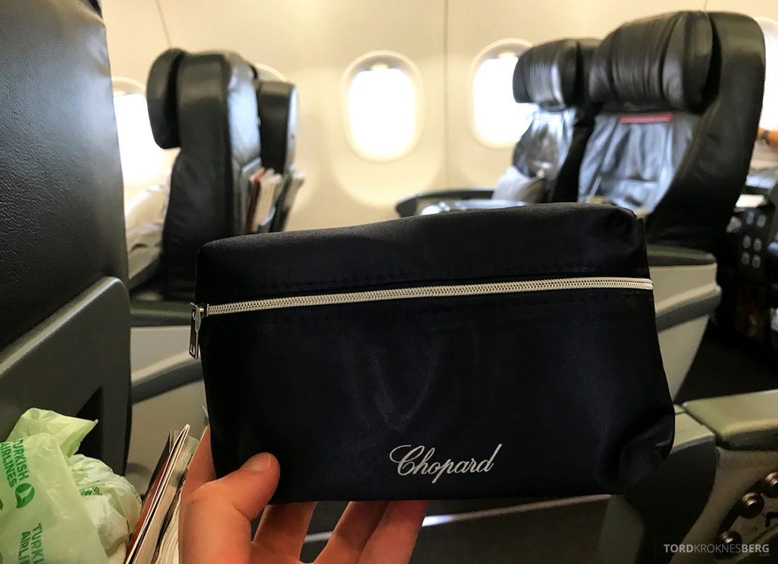 Turkish Airlines Business Class Doha Istanbul Oslo amenity kit