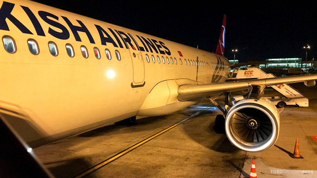 Turkish Airlines Economy Class Oslo Istanbul Doha flyvemaskin