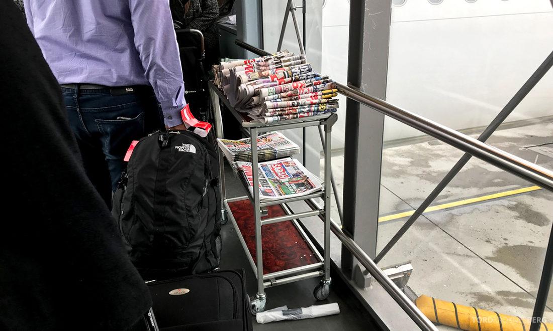 Turkish Airlines Economy Class Oslo Istanbul Doha aviser