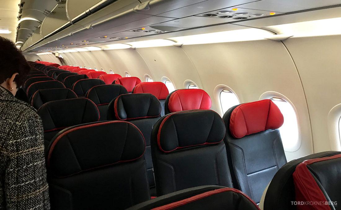 Turkish Airlines Economy Class Oslo Istanbul Doha seter