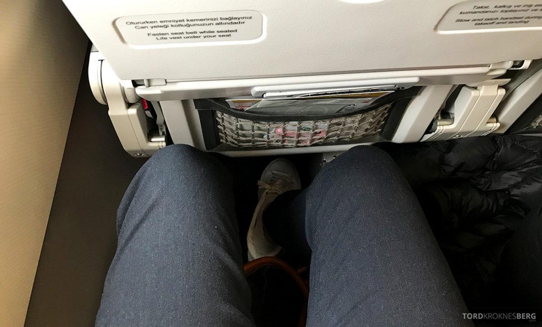 Turkish Airlines Economy Class Oslo Istanbul Doha benplass
