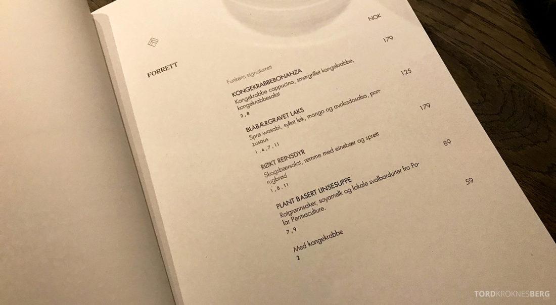 Funksjonærmessen Restaurant Svalbard forretter