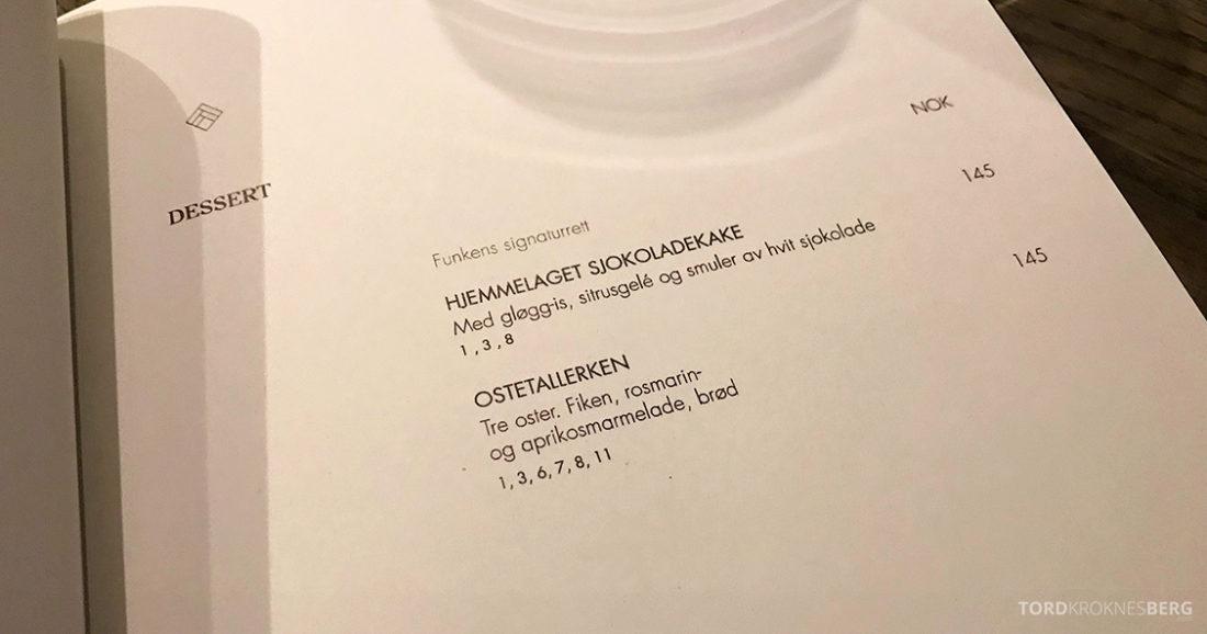 Funksjonærmessen Restaurant Svalbard dessert