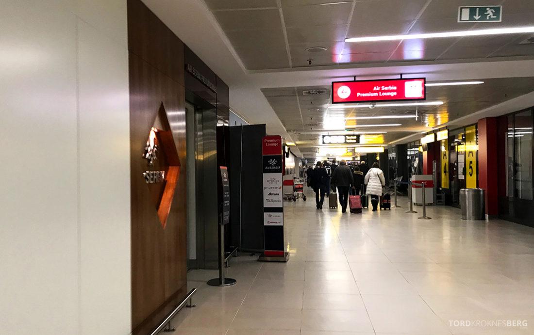 Lufthansa Economy Class Oslo Beograd inngang lounge