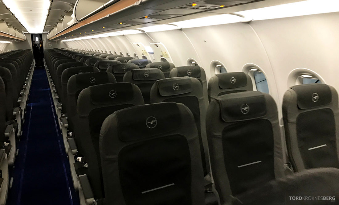 Lufthansa Economy Class Oslo Beograd seter