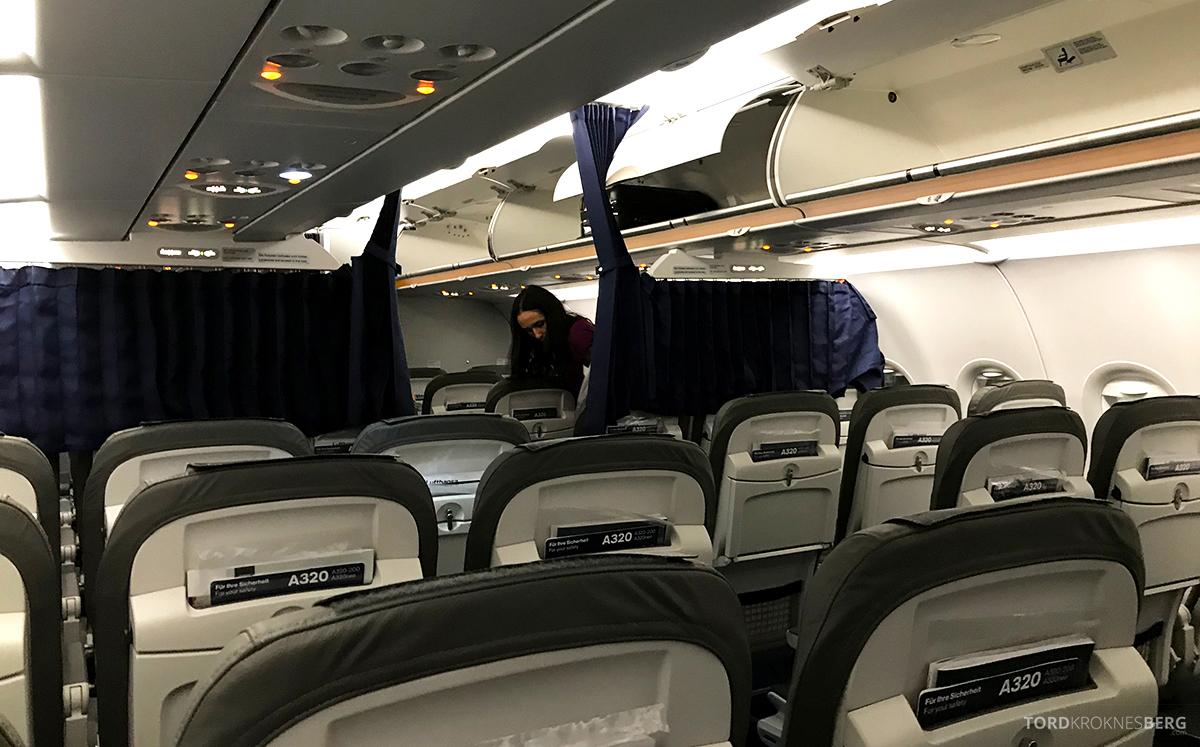 Lufthansa Economy Class Oslo Beograd forheng