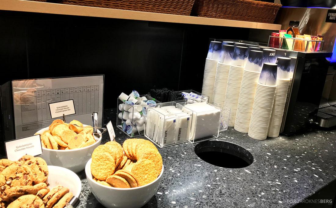 SAS Café Lounge Tromsø kjeks
