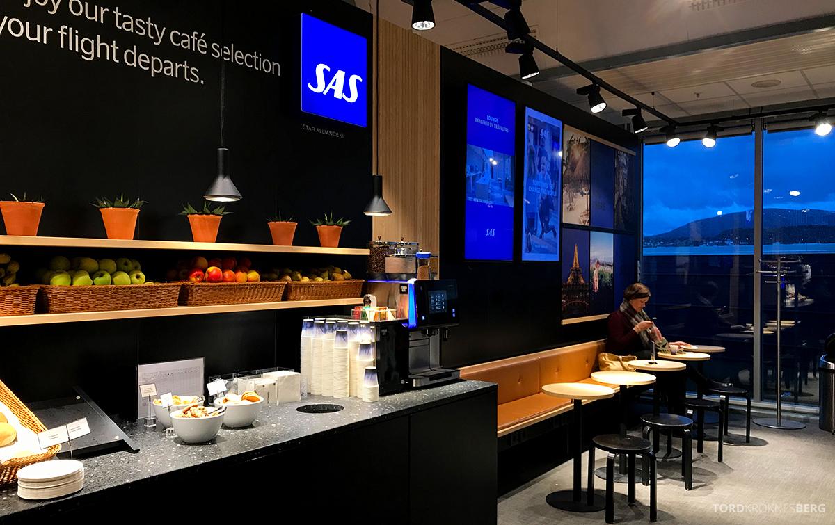 SAS Café Lounge Tromsø utsikt