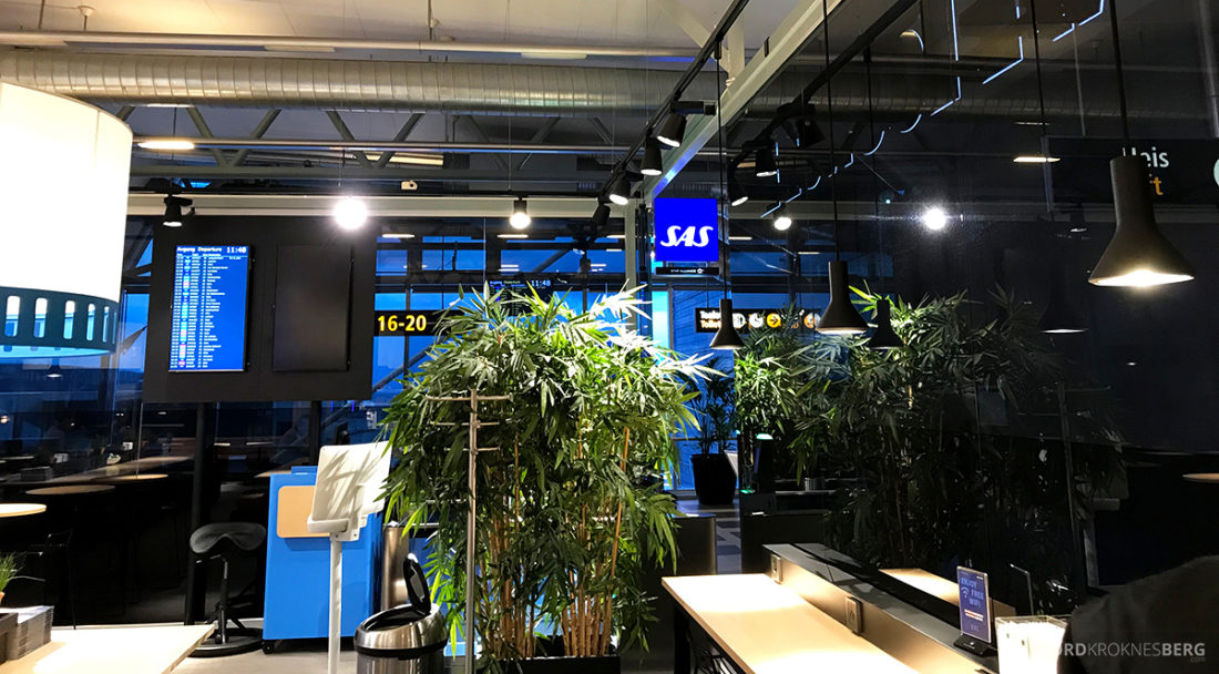 SAS Café Lounge Tromsø planter