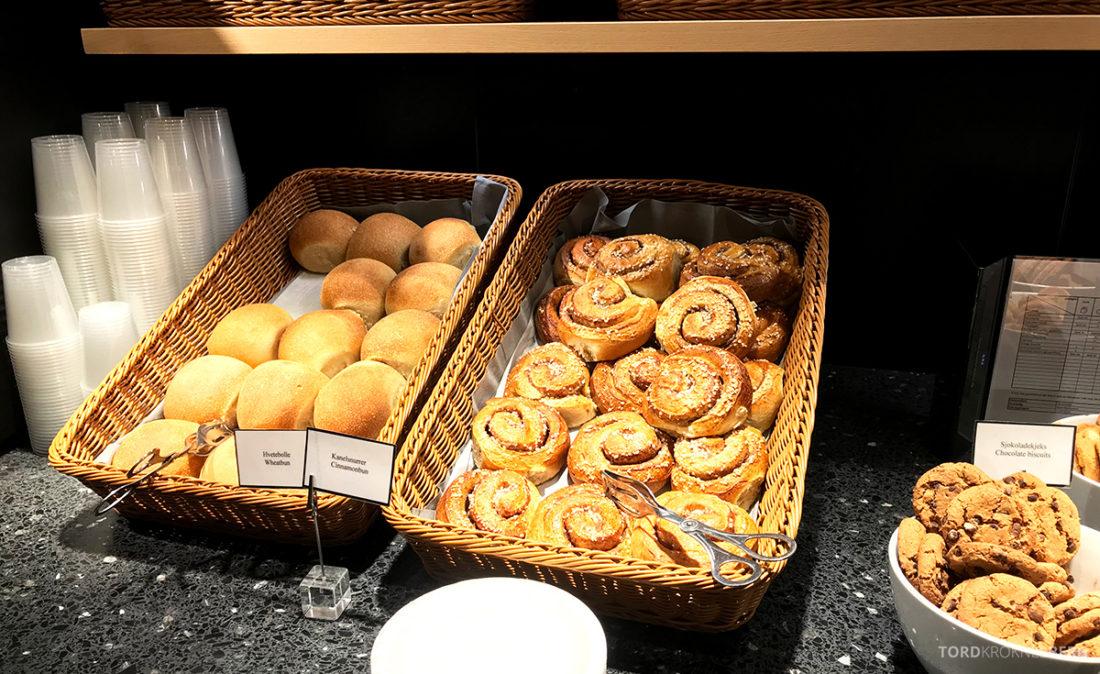 SAS Café Lounge Tromsø kanelboller