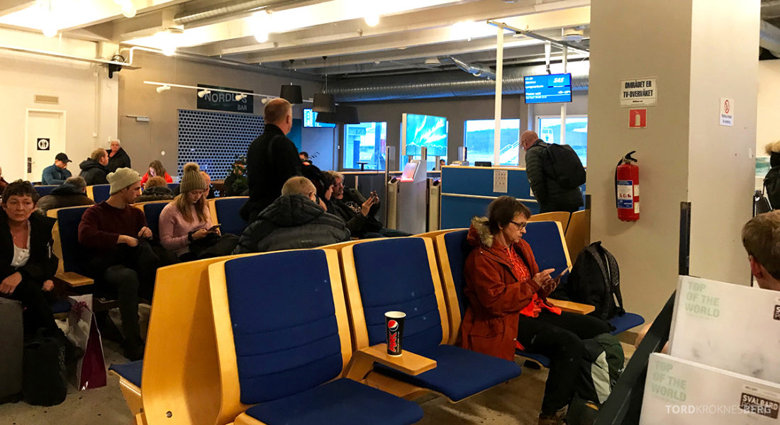 SAS Plus Oslo Svalbard venteværelse