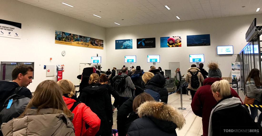 SAS Plus Svalbard Oslo innsjekk