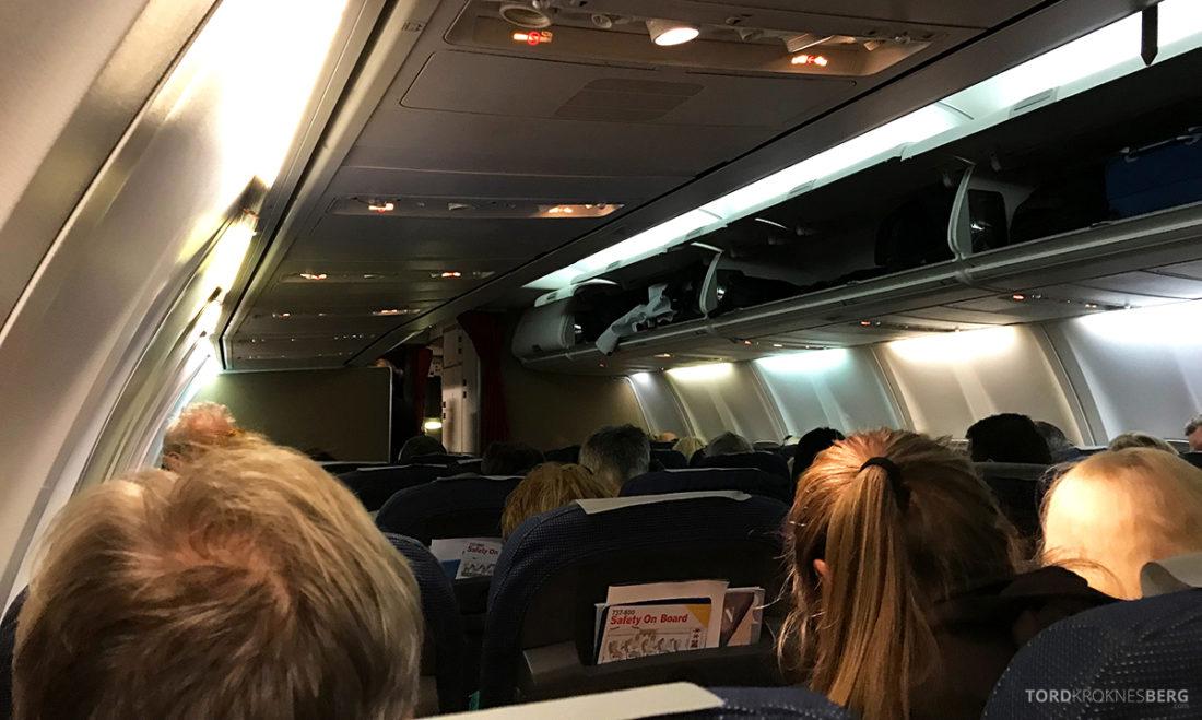 SAS Plus Svalbard Oslo kabin fra Tromsøt