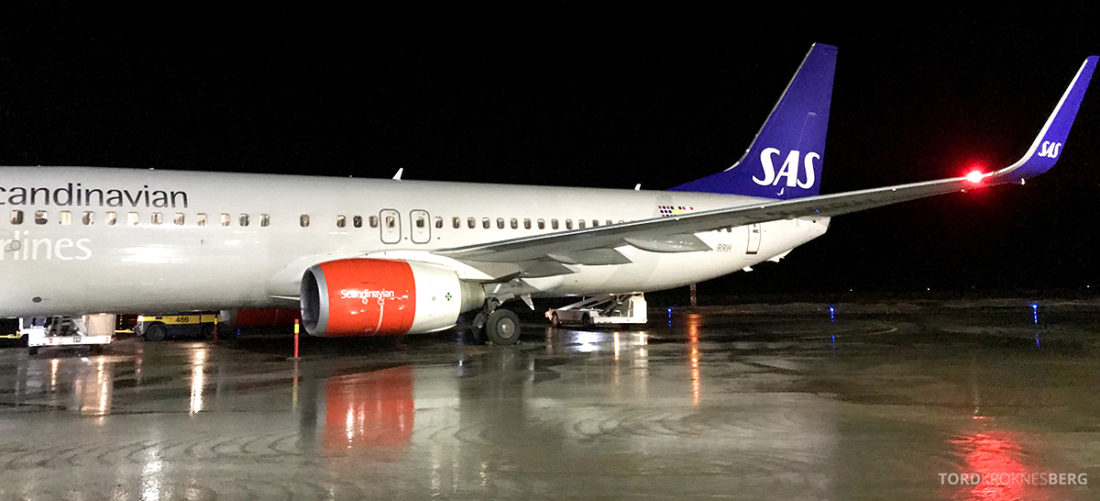 SAS Plus Svalbard Oslo fly
