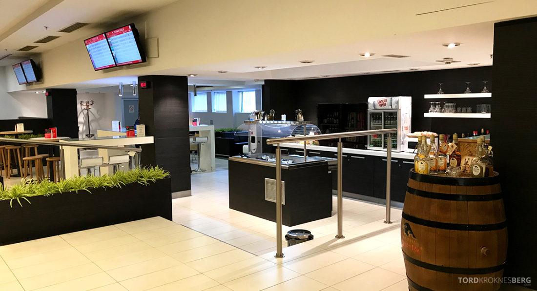 Business Club Lounge Beograd utsikt buffet