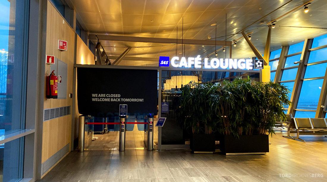 Fly Gardermoen Corona SAS Cafe Lounge