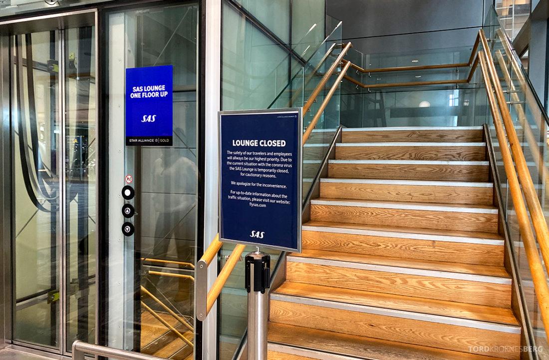 Fly Gardermoen Corona SAS Lounge stengt