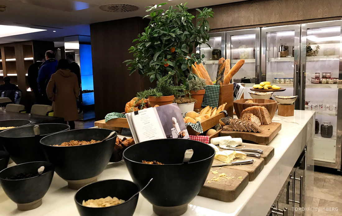 JW Marriott Hotel Grosvenor House London Executive Lounge frokostbuffet
