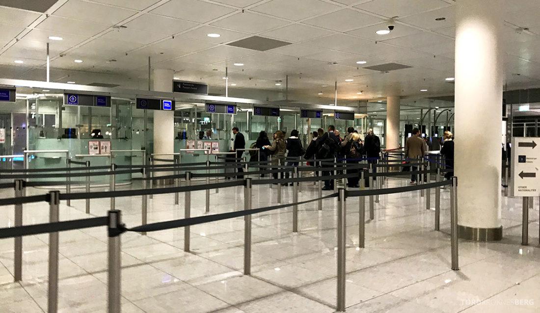 Lufthansa Economy Class Beograd Oslo passkontroll