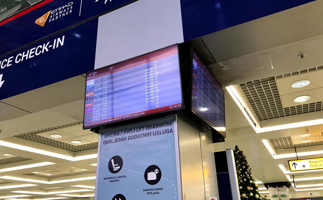 Lufthansa Economy Class Beograd Oslo innsjekksområde