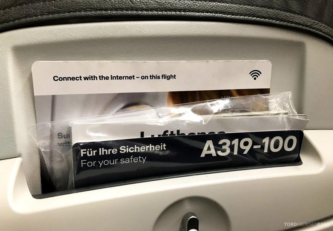Lufthansa Economy Class Beograd Oslo Wi-Fi