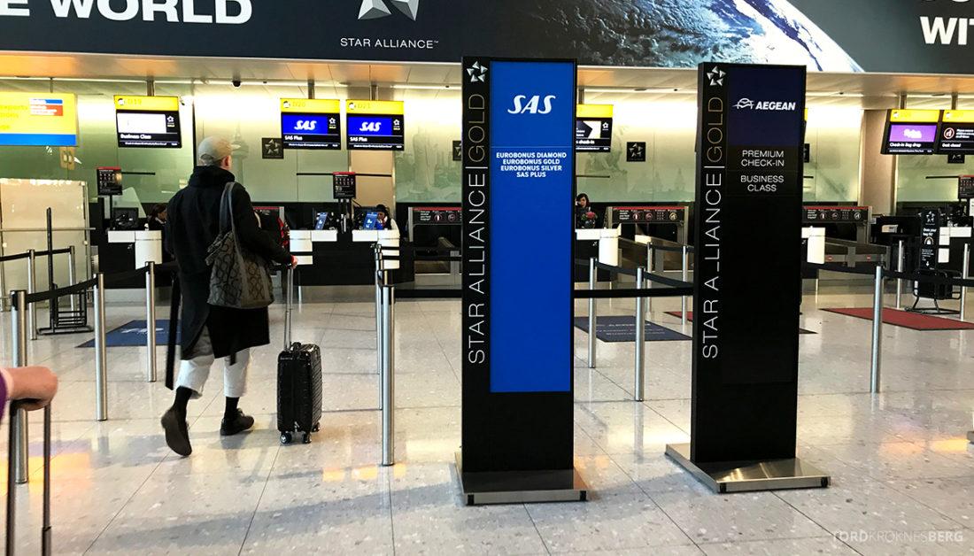 SAS Ireland Oslo London skranker