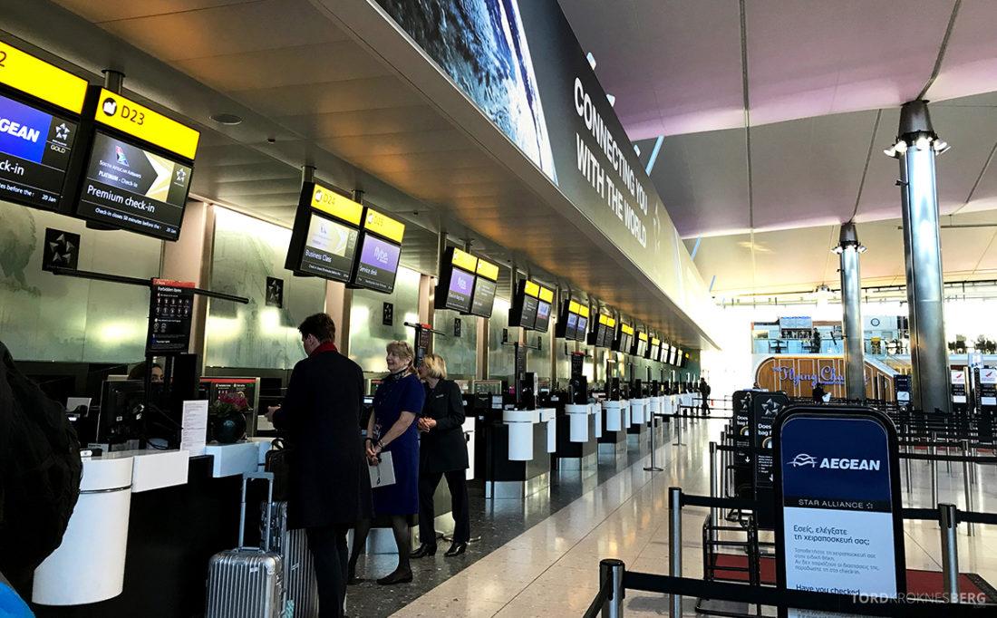 SAS Ireland Oslo London innsjekk