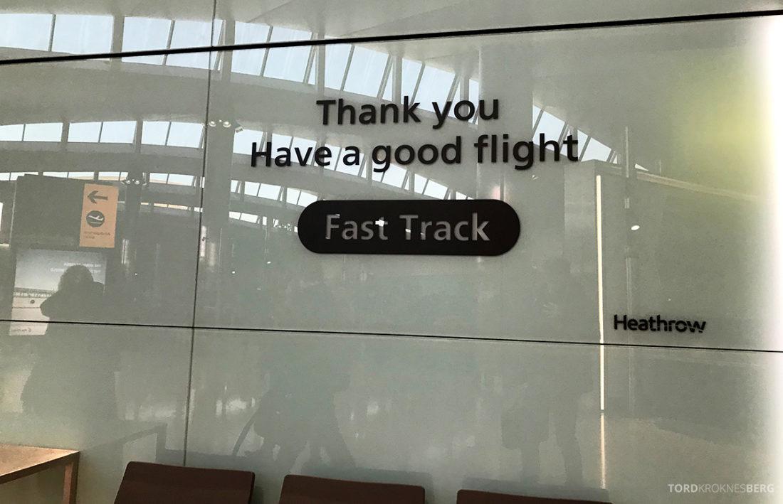 SAS Ireland Oslo London fast track Heathrow