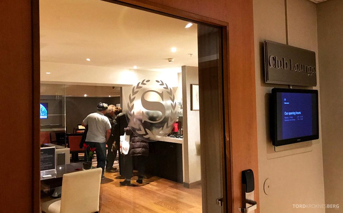 Sheraton Hotel Stockholm Club Lounge inngang