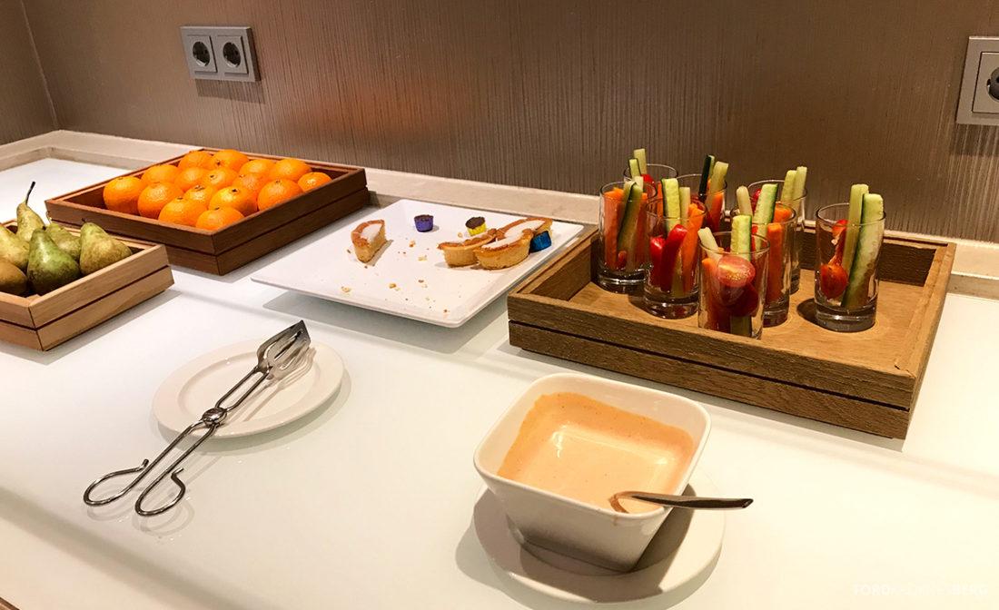 Sheraton Hotel Stockholm Club Lounge hors d'oeuvre grønnsaker
