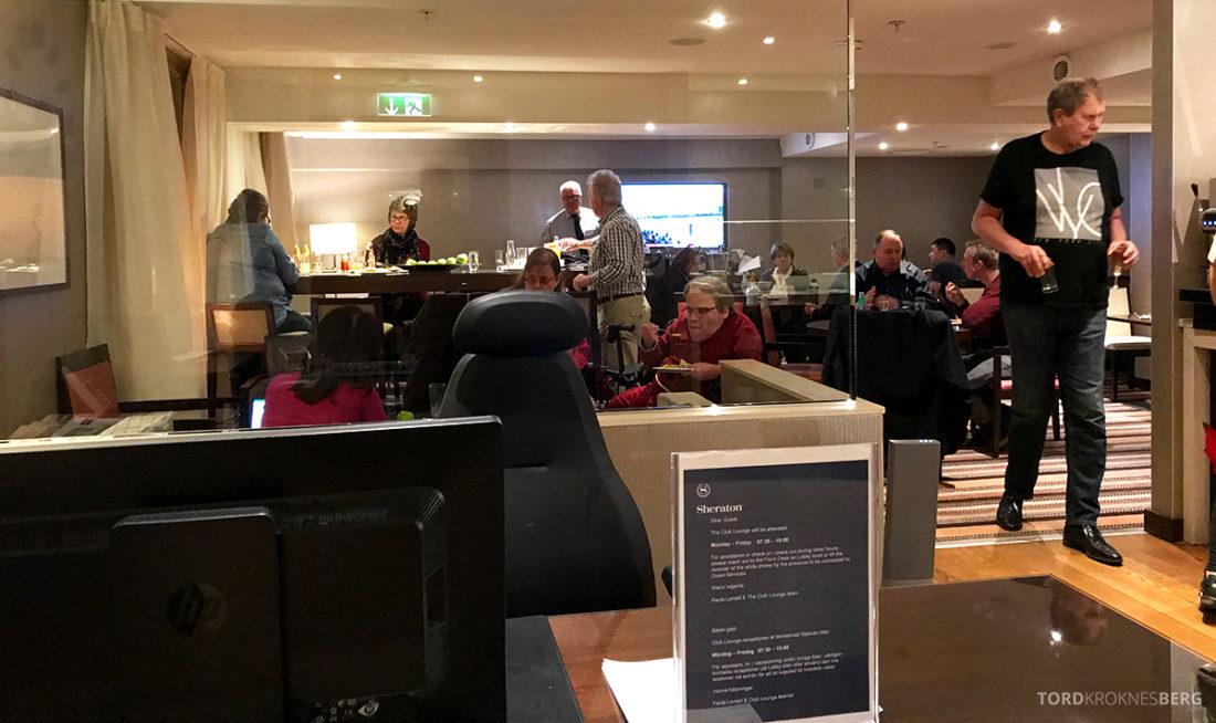 Sheraton Hotel Stockholm Club Lounge hors d'oeuvre fullt
