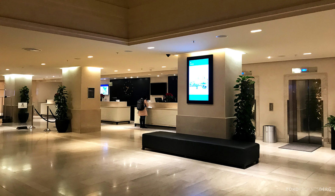 Sheraton Hotel Stockholm resepsjon