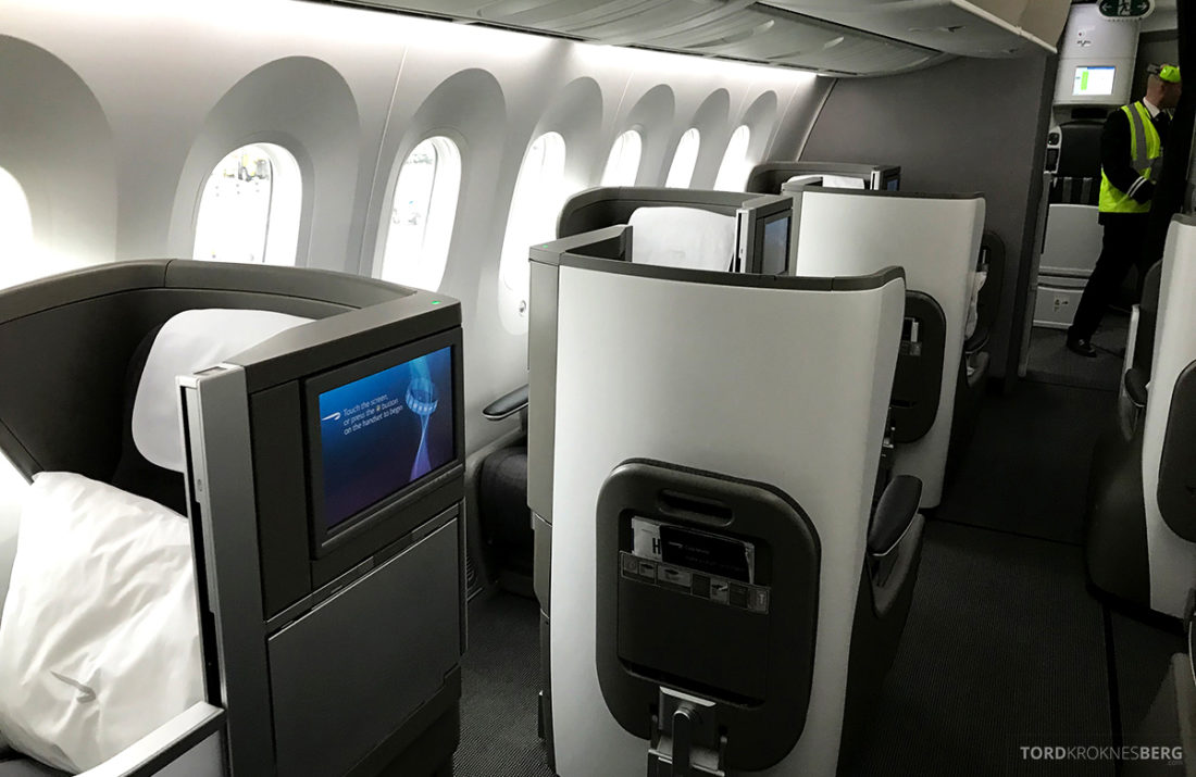 British Airways Club World Business Class London Seoul intime seter