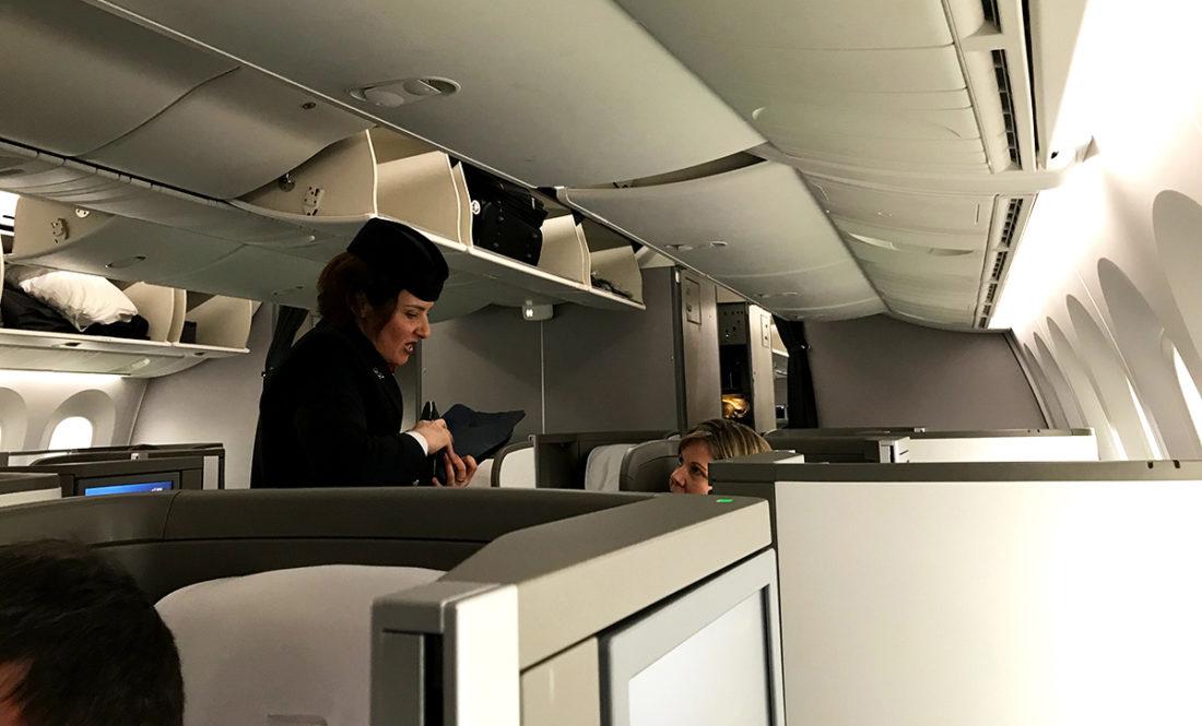 British Airways Club World Business Class London Seoul utdeling amenity kit