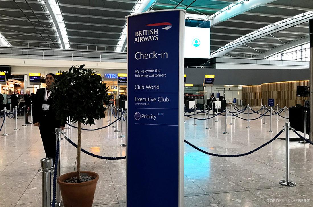 British Airways Club World Business Class London Seoul innsjekk