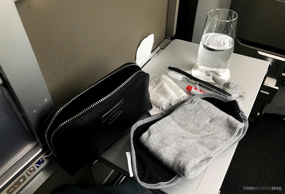British Airways Club World Business Class London Seoul amenity kit
