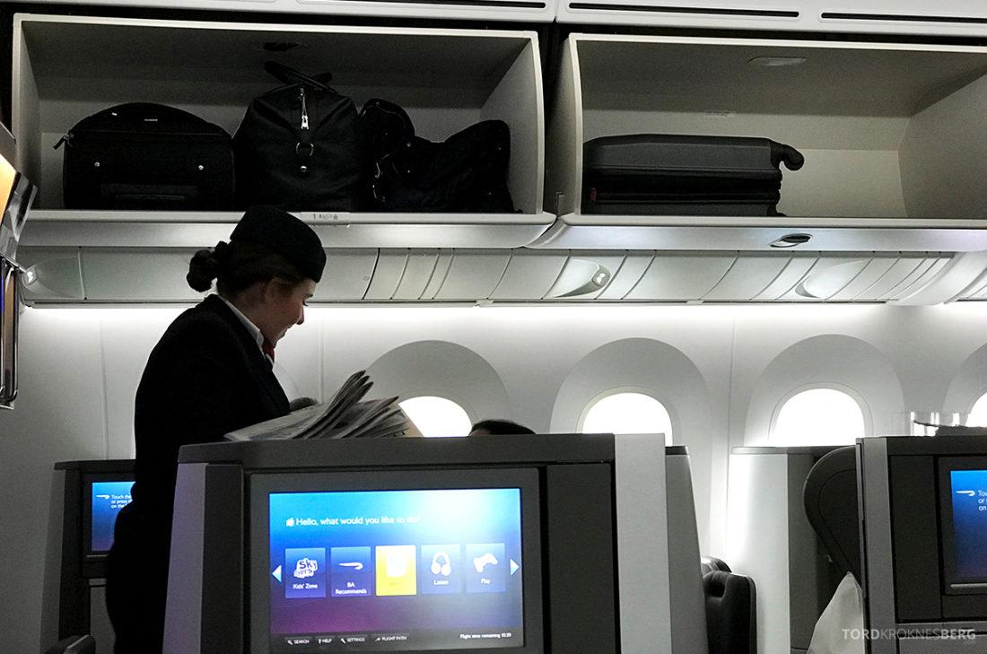 British Airways Club World Business Class London Seoul aviser utdeling