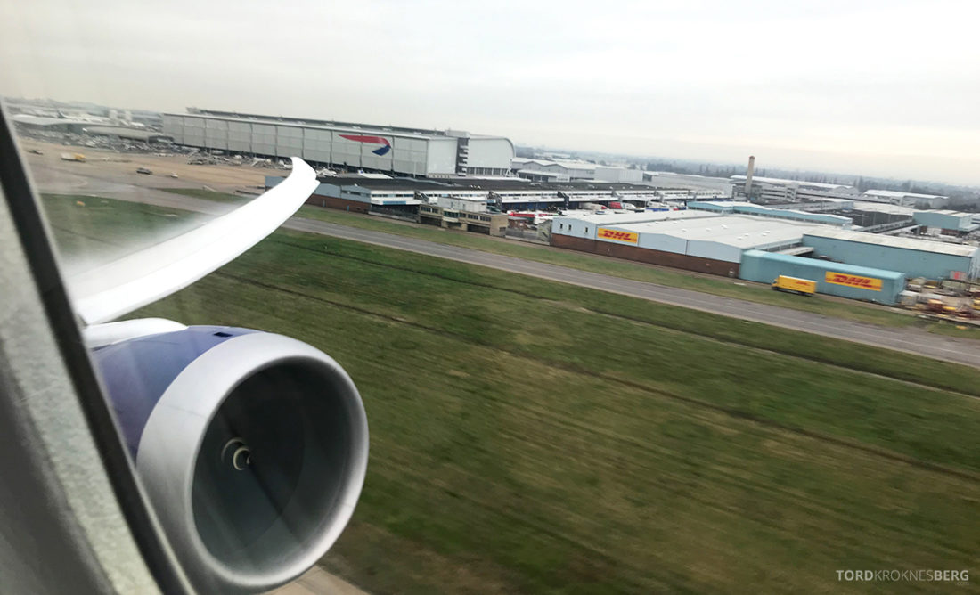 British Airways Club World Business Class London Seoul adjø Heathrow