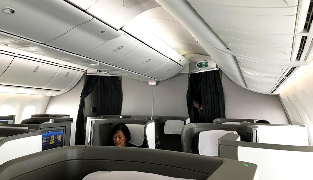 British Airways Club World Business Class London Seoul kabin