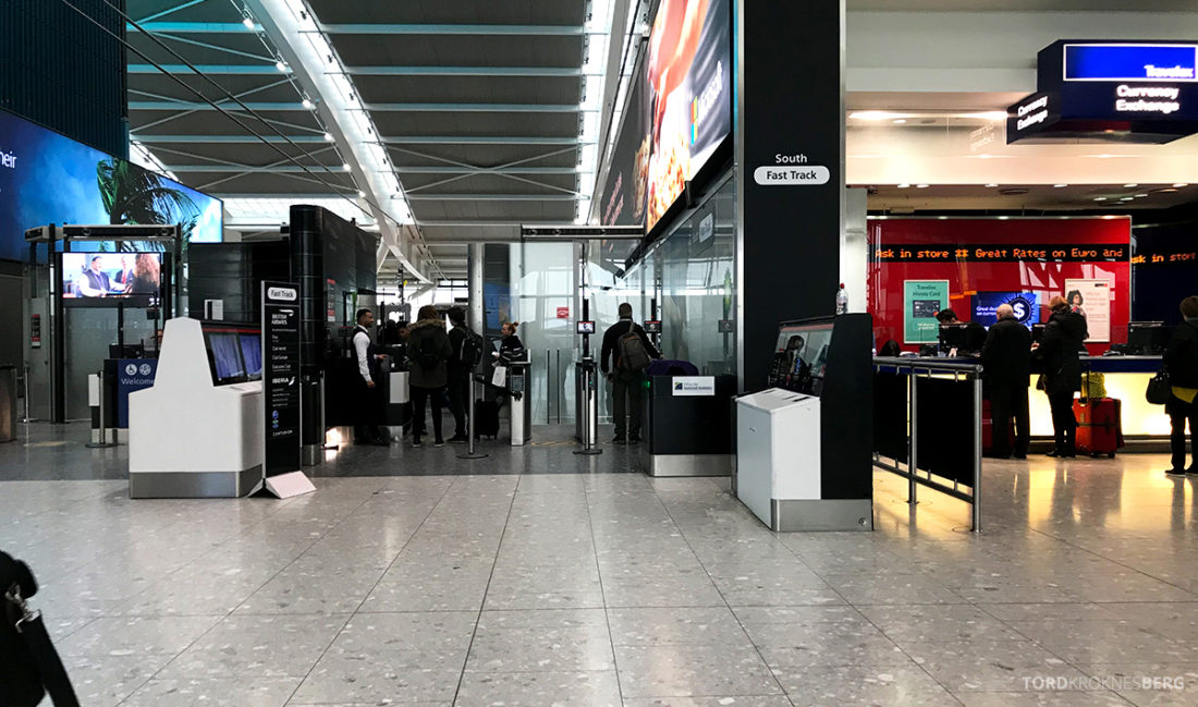 British Airways Club World Business Class London Seoul fast track